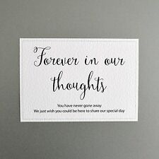 Wedding Memorial Sign - Forever in our thoughts