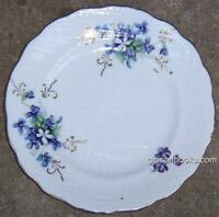 Small Plate Decorated with Purple Violets and Gold Trim Vintage Dinnerware