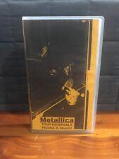 1991 Metallica Tour Rehersal VHS Tape Peoria, IL Very Rare HTF