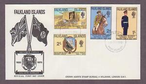 Falkland Islands # 188 - # 191 , Defense Force FDC - I Combine S/H
