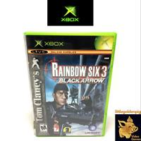 Tom Clancy's Rainbow Six 3 Black Arrow (2004) Xbox Case & Manual Tested Works