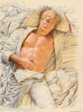 SMALL POSTER:SEXY MALE MODEL - LAYING IN BED by NICK  BACKES - #P01 RP82 O - L