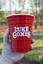 Luke Combs VIB Very Important Bootlegger Reusable Red Solo Cup With Lid Country