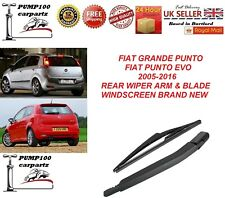 FIAT PUNTO GRANDE FIAT PUNTO EVO 2005-2016 REAR WIPER ARM & BLADE WINDSCREEN NEW