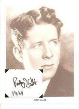 Rudy Vallee Autograph Savoy Havana Band Deep Night Betty Boop Poor Cinderella #2