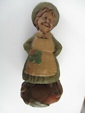 "Tom Clark ~ Gnomes ~ ""Colleen"" With An Apron & Shamrock ~ 1987 ~ Mint Condition"