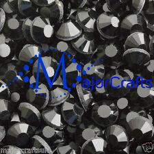 350pcs 4mm ss16 Black Flat Back DMC A+ Glass Hotfix Rhinestones Crystals C04