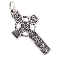 Keltisches Kreuz Anhänger Silber 925 Keltenkreuz  Wikinger Germanen Schmuck b336