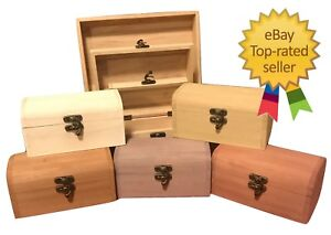 Large Engraved Wooden Boxes Small Personalised Painted Keepsake Wood Gift Box