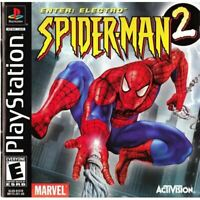 Spider-Man 2: Enter: Electro - PlayStation 1 (PS1) Game *CLEAN VG