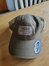 New Lake of Isles Golf Embroidered Baseball Style Hat Adjustable Snap Back