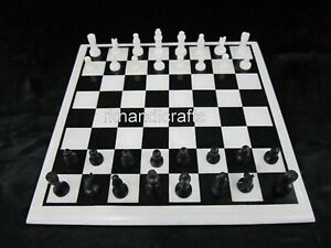 """15 Inches Marble Coffee Table Top Royal Chess Board table with King Size 2.5"""""""