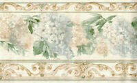 Hanging Floral Rustic Wooden Panel Scroll Ornate Architectural Wallpaper Border