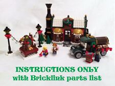 Winter Village Chocolate Factory INSTRUCTIONS ONLY for LEGO Bricks (Christmas)
