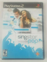 SingStar Pop Sony PlayStation 2 PS2 2007 Game Booklet and Case No Mic