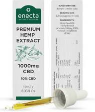Hanf Öl 10%  1.000mg Premium Bio 10ml Hanföl Cannabisöl ohne THC von Enecta