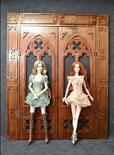 Gothic Open Door for Dolls FR Barbie 1/6 12 in Catholic Church diorama OOAK