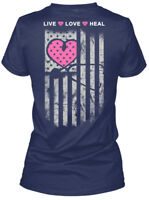 Nurse Heart Flag America - Na Live Love Heal Gildan Women's Tee T-Shirt
