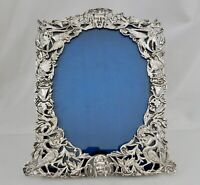 1886 Antique Victorian Sterling Silver Picture Frame - 82669