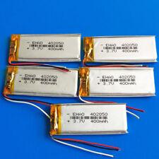 5 pcs 3.7V 400mAh li po polymer battery for mp3 headset bluetooth 402050 3 wires