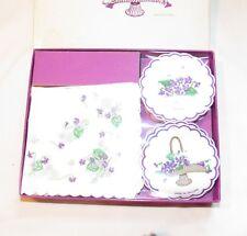 ITS RAINING violet Pattern Paper Napkins /coaster Freund Mayer Vintage England