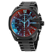 Diesel Mega Chief Black Ion-plated Stainless Steel Men's Watch DZ4318