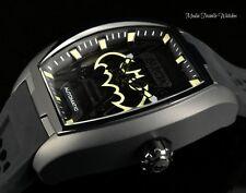 NEW Invicta DC Comics Tonneau BATMAN Diablo Blk & Gold AUTOMATIC Silicon Watch
