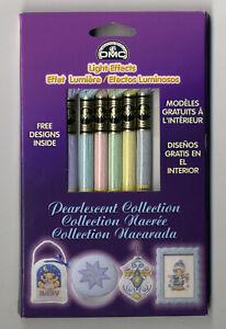 6 Skeins DMC Cross Stitch Floss / Thread Set Pearlescent Collection #LTE317WPK2