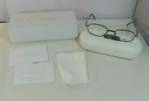 Chloe Women's Eyeglass Frames Black Silver CL1128 CO1 50-19-135 Case -Cloth