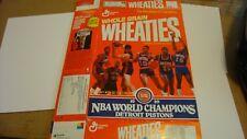 Wheaties Detroit Pistons 1989 Champions Box Flat