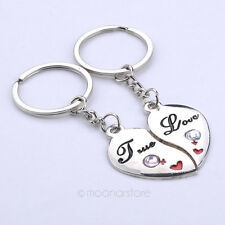 2pcs Pair Couple Keychains Heart True Love Male Female USA Shipper Fast #11
