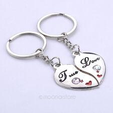 2pcs Pair Couple Keychains Heart True Love Male Female USA Shipper Fast #11