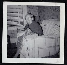 Antique Vintage Photograph Older Women in Glasses Sitting in Chair - Retro Room