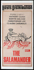THE SALAMANDER Original Daybill Movie Poster Christopher Lee Franco Nero