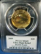 2009 GOLD $20  DOUBLE EAGLE PCGS MS 69 ULTRA HIGH RELIEF   WITH   MOY SIGNATURE