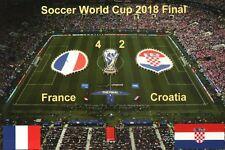 Fussball Weltmeisterschaft Endspiel 2018, Frankreich 4 : Kroatien 2 - Postkarte
