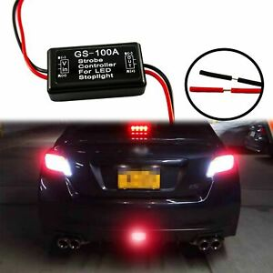 12V Flash Strobe Controller Flasher Module Universal LED 3rd Brake Stop Lights