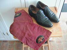 Men's Shoes STETSON GENUINE ALLIGATOR BLACK w/Storage Bags! ~ Size 8 1/2 ~ NICE!