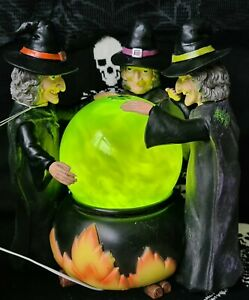 Tk Maxx HalloweenWitch mystic fortune teller crystal ball lights up with smoke