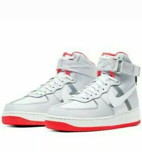Nike Air Force 1 High grey 07 LV8 1 Blocked Logo White Grey CI1117 101 mens 12