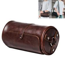 Mens Leather Shoulder Bag Tablet Satchel Handbag Cross Body Sling Bags Unisex