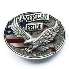 American Pride Flag w/ Eagle Metal Fashion Belt Buckle