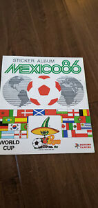 1986 PANINI EMPTY SOCCER FOOTBALL STICKER ALBUM MEXICO WORLD CUP 86 UK VERSION