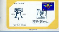 U.S. Bicentennial, Dominican Republic 6c FDC 5/29/76 (STAMPS, POSTAGE, FREEDOM)