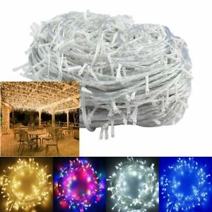 10-100M LED Fairy String Lights UK Mains Plug in Battery Operated Outdoor Indoor