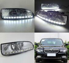 2x ROR 2009-2013 Skoda Superb LED DRL daytime running light with fog lamp