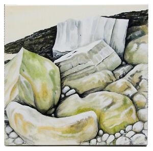 Modern Rocks Four Acrylic seascape painting on deep edged canvas