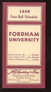 1939 Fordham NCAA College Football Schedule