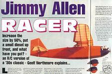 "Model Airplane Plans (RC): Jimmy Allen Racer 42""ws for 1.5cc (B-A Parasol)"