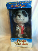 Limited Edition Hand Painted Bobble head Panda Wish Bear New In Box 2001